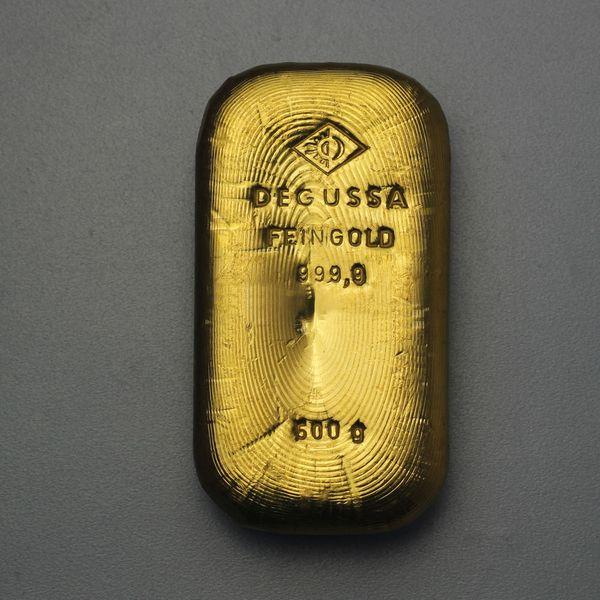 500g Degussa Goldbarren Esg Goldbarrende