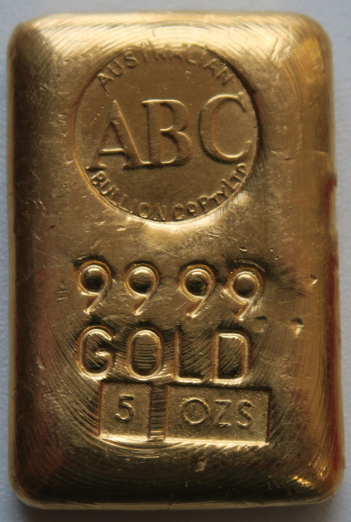 5oz ABC Goldbarren