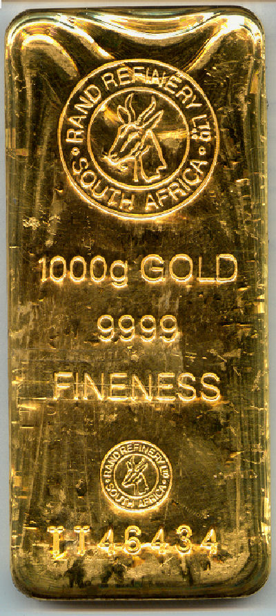 1kg Goldbarren Rand Refinery