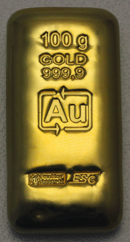 100g Gold-Barren